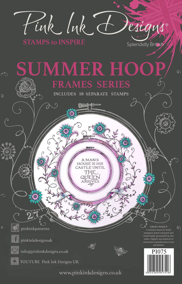 Summer Hoop A5 Clear Stamp Set
