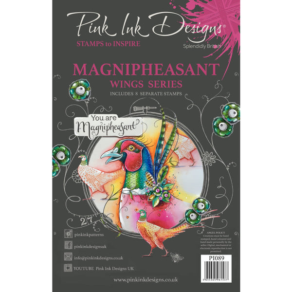 Magnipheasant A5 Clear Stamp Set