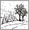 Picture Embossing Folder - winter landscape