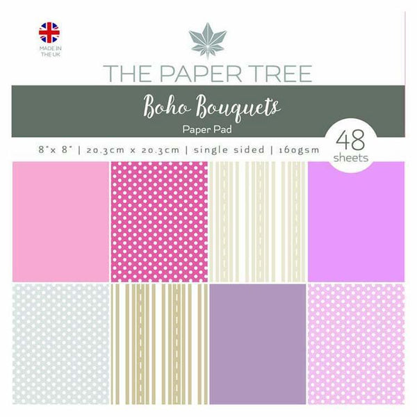 "The Paper Tree Boho Bouquets 8"" x 8"" Essentials Paper Pad"