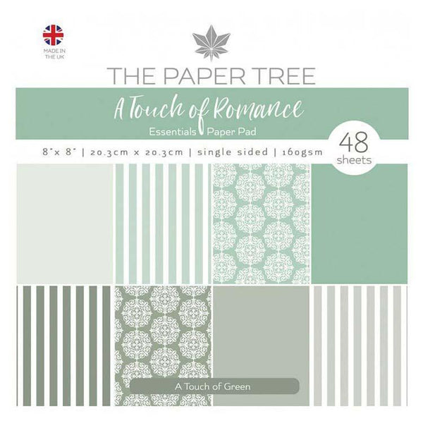 The Paper Tree A Touch of Romance 8x8 Essentials Pad - A Touch of Green