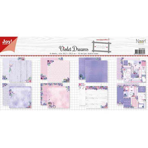 12 x 12 Paper Set Noor Violet Dreams