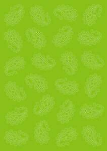 Vellum Paisley Lime (5 sheets)