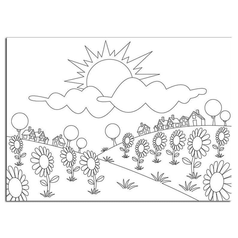Picture Embossing Folder Summer Flowers