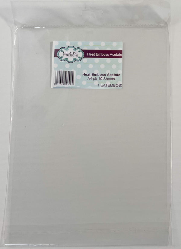 Creative Expressions Heat Emboss Acetate A4 Pk10