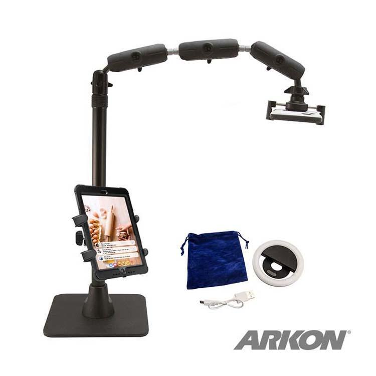 Arkon Mounts Remarkable Creators Phone and Tablet Stand with Ring Light Bundle