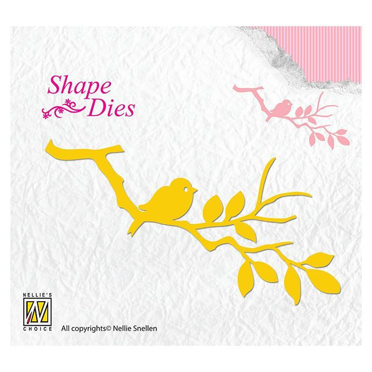 Shape Die - Birdie on Branch