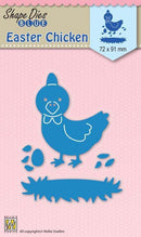 Nellie's Choice - Shape Die Blue Easter Chicken