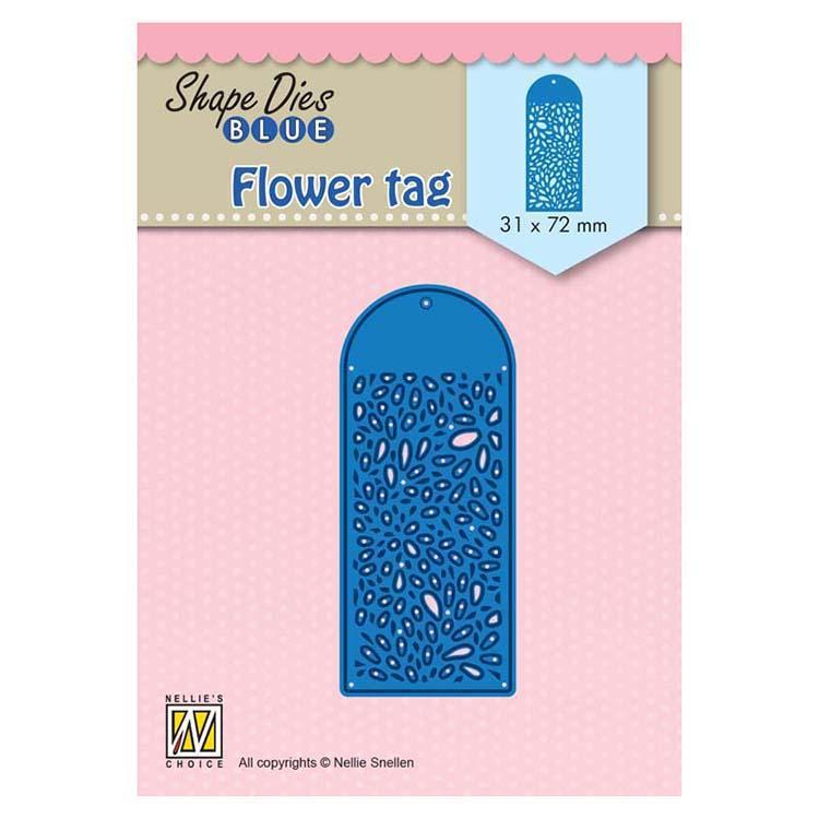 Nellie's Choice Shape Dies Blue Flower Tag