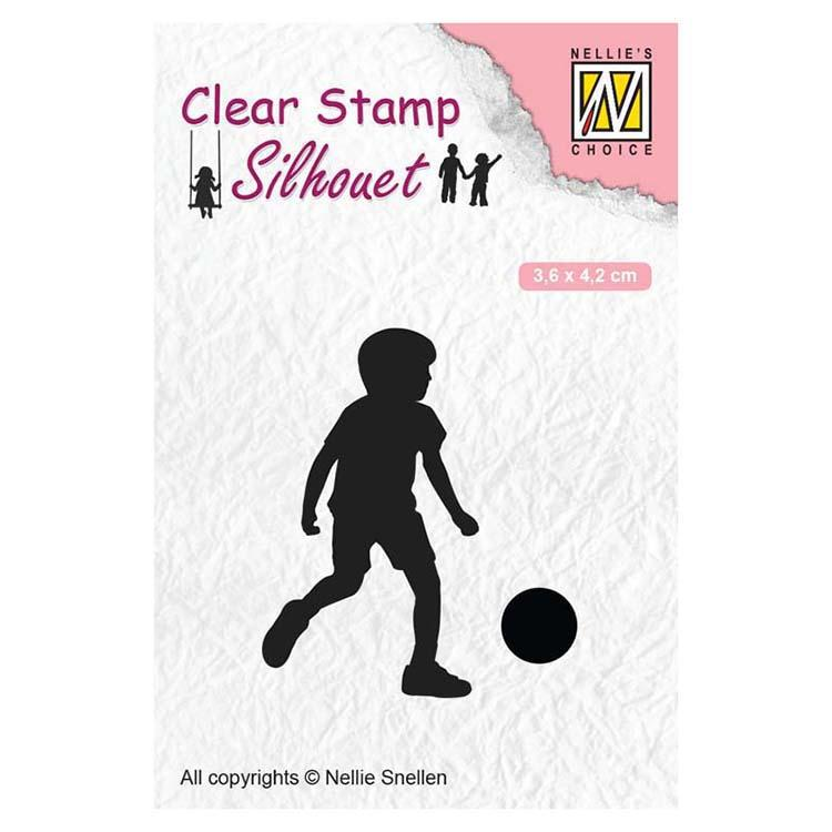 Nellie's Choice Clear Stamps Silhouette Football Player