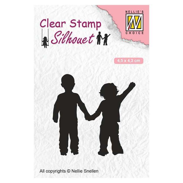 Nellie's Choice Clear Stamps Silhouette Close Friendship