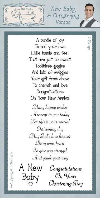 Sentimentally Yours Clear Stamp Set Classic - New Baby & Christening Verses
