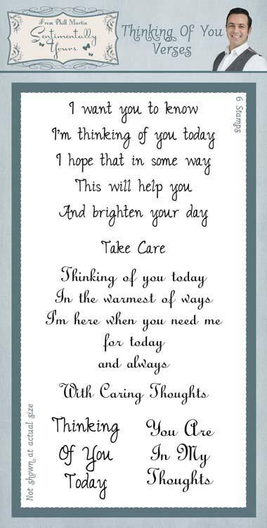 Sentimentally Yours Clear Stamp Set Classic - Thinking Of You Verses