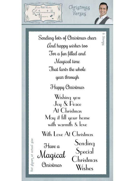 Sentimentally Yours Christmas Verses Clear Stamp Set