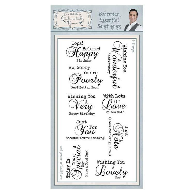 Sentimentally Yours Bohemian Essential Sentiments Clear Stamps
