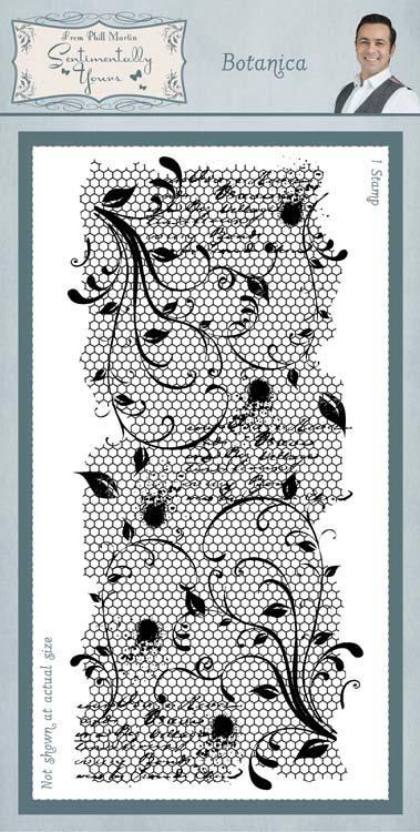 Sentimentally Yours Botanica 4 x 8 Rubber Stamp