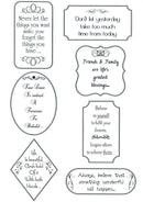 Sentimentally Yours  Clear Stamp - Words of inspiration