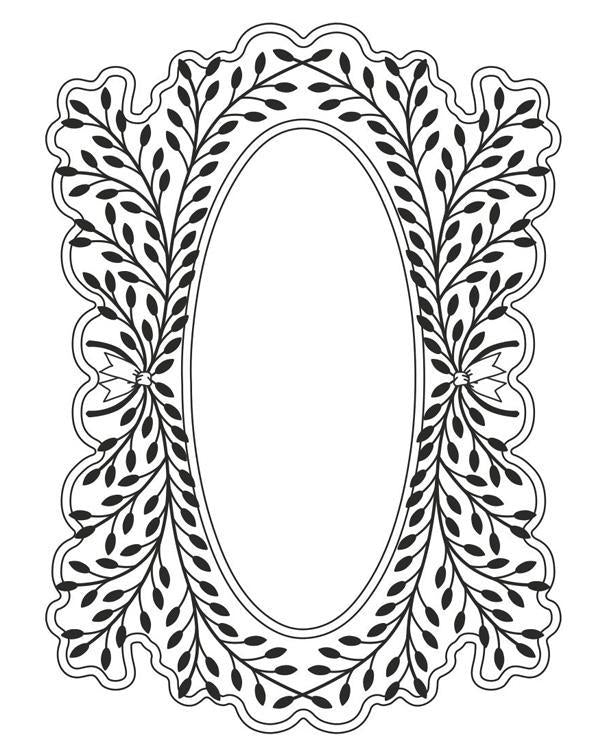 Laurel Flourish Stamp