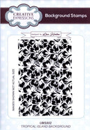 Creative Expressions Background Stamps Tropical Island