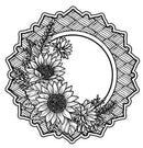 Creative Expressions Julia's Sunflower Posy Pre-cut stamp