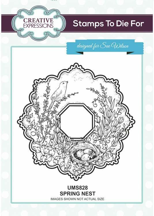 Creative Expressions Spring Nest  Stamp