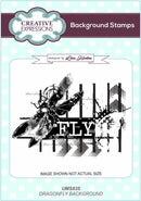 Creative Expressions Dragonfly A6 Background Stamp