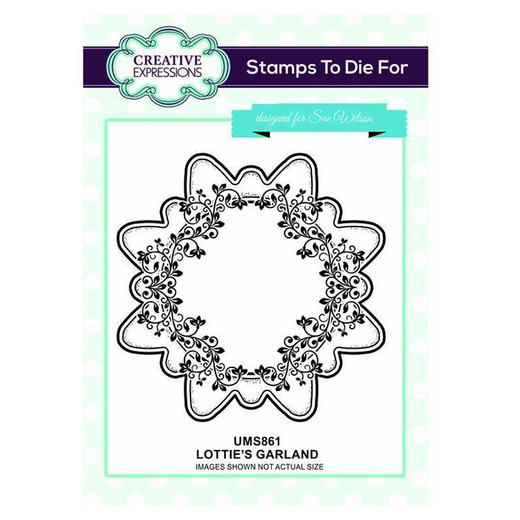 Creative Expressions Lottie's Garland Pre-cut Stamp Set