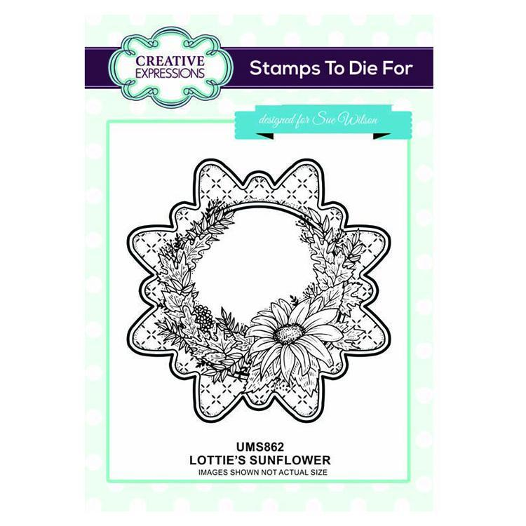 Creative Expressions Lottie's Sunflower  Pre-cut Stamp Set