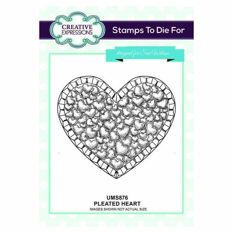 Creative Expressions Stamps To Die For Pleated Heart Pre Cut Stamp