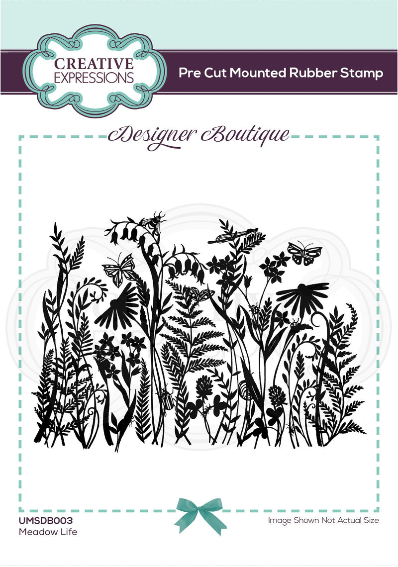 Designer Boutique Collection Meadow Life Pre Cut Rubber Stamp