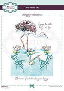 Designer Boutique Collection Flamingo Oasis A5 Clear Stamp