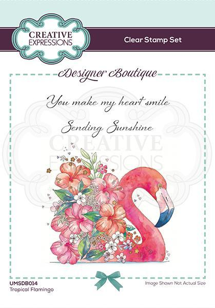 Designer Boutique Collection Tropical Flamingo A6 Clear Stamp