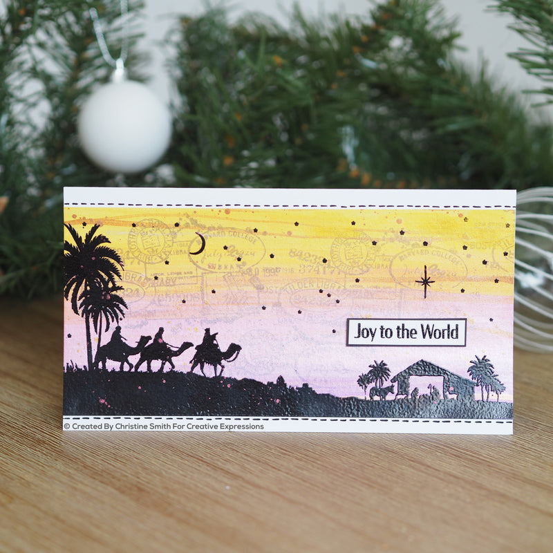 Designer Boutique Collection Follow The Star DL Pre Cut Rubber Stamp