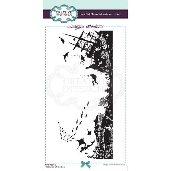 Creative Expressions Designer Boutique Collection Treasures of the Sea DL Pre Cut Rubber Stamp