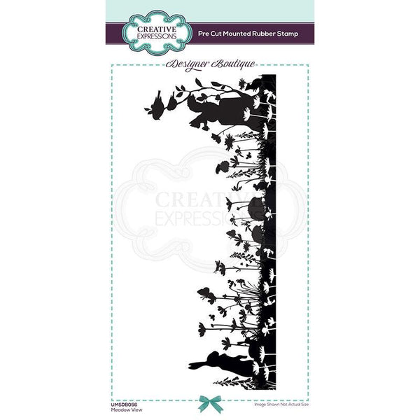 Creative Expressions Designer Boutique Collection Meadow View DL Pre Cut Rubber Stamp