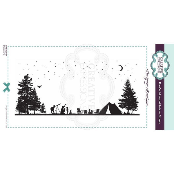 Designer Boutique Collection Stargazing DL Pre Cut Rubber Stamp