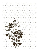 Nellie's Choice - Vintasia Embossing Folder - Rose Ornament