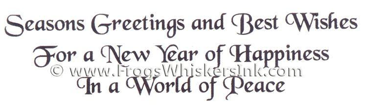 Frog's Whiskers Ink Stamps - New Year of happiness