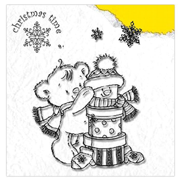 Nellie's Choice Clear Stamp Christmas Time - Present Bear