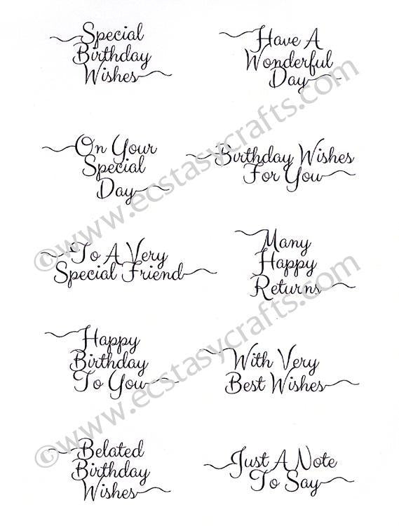 Petite Scribbled Sentiments 'Everyday'  Clear Stamp Set