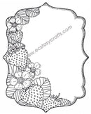 Sue Wilson - Strawberry Patch Pre Cut Rubber Stamp