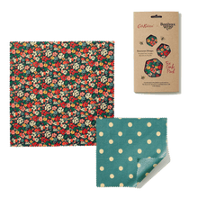 Load image into Gallery viewer, Beeswax Food Wraps - Cath Kidston Mews Ditsy (Two Combo)
