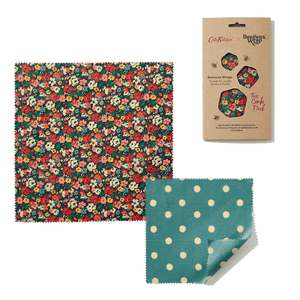 Beeswax Food Wraps - Cath Kidston Mews Ditsy (Two Combo)