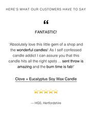 Load image into Gallery viewer, Clove & Eucalyptus Soy Wax Candle (250ml)