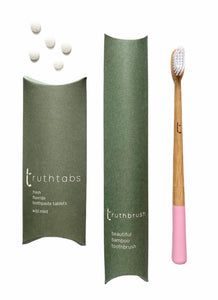 PETAL PINK Toothbrush + 1 Months Supply of Truthtabs 'Starter Set'