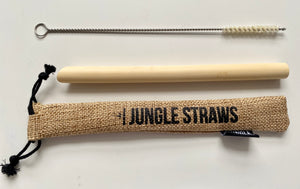 'Smoothie' Bamboo Straw Set + FREE Cleaning Brush