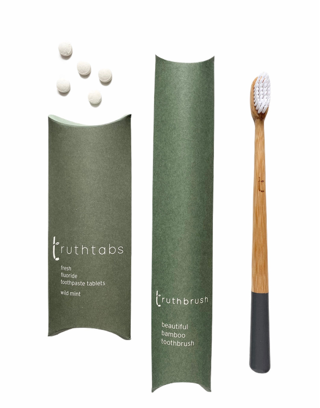 STORM GREY Toothbrush + 1 Months Supply of Truthtabs 'Starter Set'