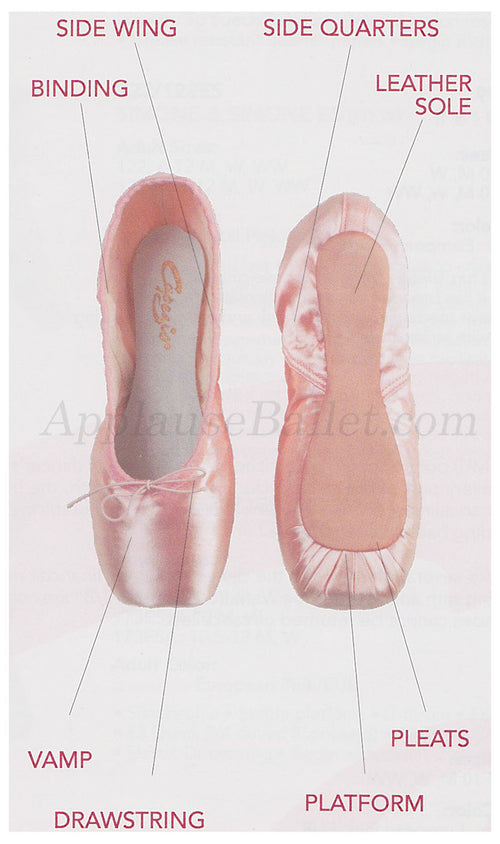 Capezio Cambré Tapered Toe #4 Shank Pointe Shoe カペジオ カンブレ先細・シャンク#4 トゥシューズ