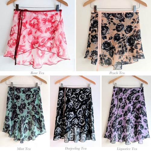B.S.B.L Wrap Skirt English Tea Collection Rose Tea バレエ巻きスカート 28cm, 33cm, 40cm, 46cm, 61-66cm