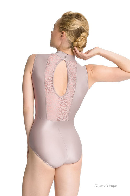 So Danca Adult High Neck Halter Top Leotard with Lace Cut Outs (SMxSD) ソダンサ ハイネックレオタード(大人)